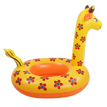Children's Cartoon Swimming Ring Seat Giraffe Swim Ring Piscine Baby Neck Float Inflatable Boat Sac piscine Fourre Tout