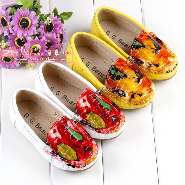 2013 autumn line Emboss carved male girls shoes loafers gommini princess single shoes leather 24 - 36