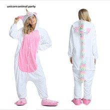 Animal Kigurumi Onesies Cosplay Unicorn Adult Unisex Costume Pajamas Sleepwear Men Women Cartoon Pajama jumpsuits