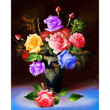 Diamond Painting Seven-color rose 5D Diy Embroidery Full Square Cross Stitch Mosaic Picture home Decor Y2605