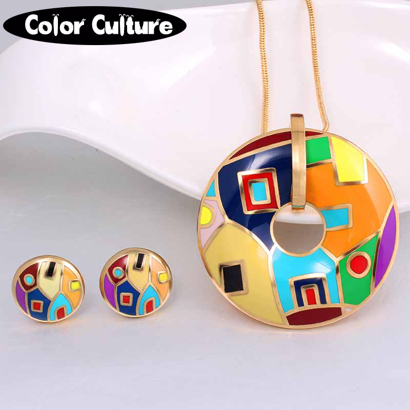 color culture Jewelry Sets for Women Necklace Earring