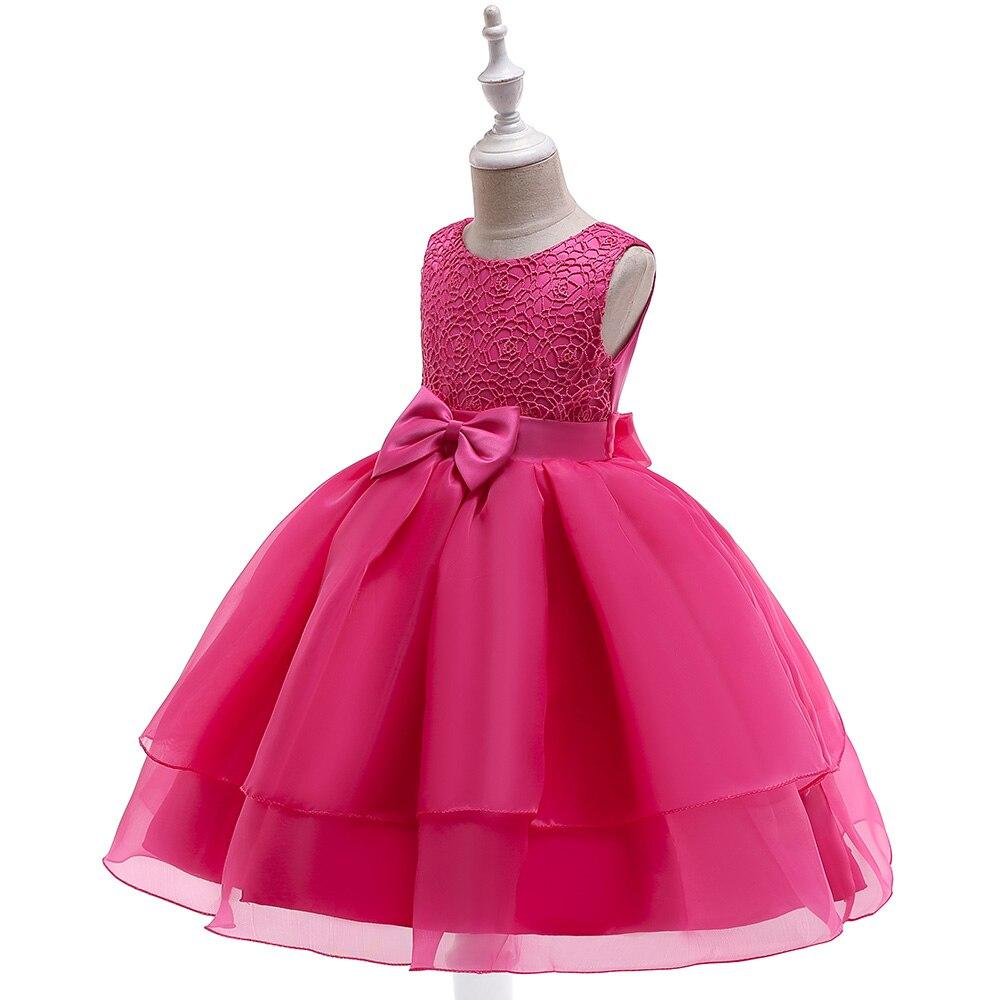 Fille dentelle robes mode princesse robe enfants vêtements elbise robe fille premier anniversaire enfants fête junker saia raiponce falda - 3