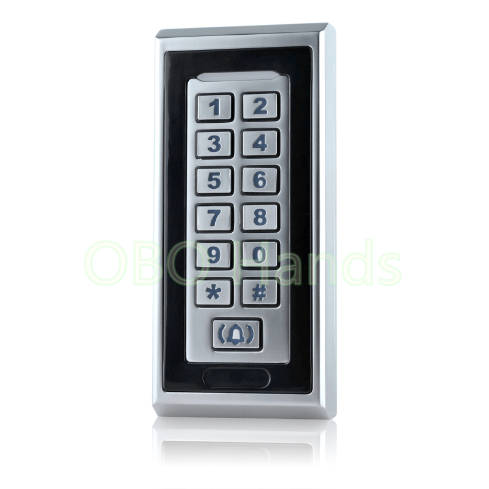 Sliver RFID Door Lock Card Reader Access Control With Metal Keypad Number/Digital Door Hotel Locks For Access Control System-K81 access control all in one machine reader entry door keypad lock access control system for office family & 10 promixity card