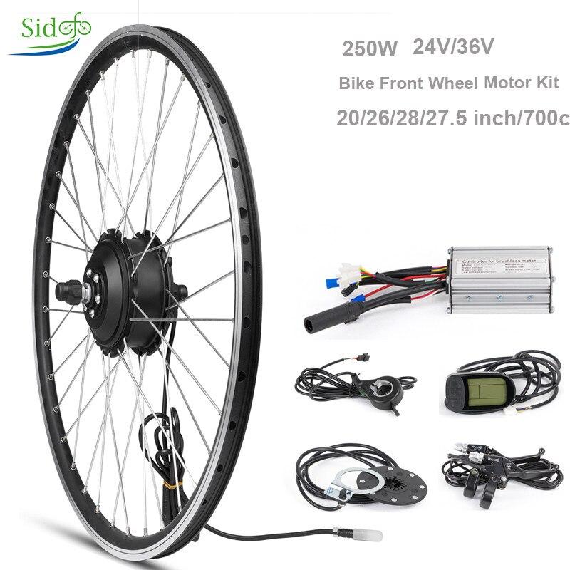 Vélo électrique Kit de Conversion 250 W 36 V Hub Moteur Bicicleta 20 26 27.5 28 700c e-vélo Avant roue Moteur LCD 5 Vélo