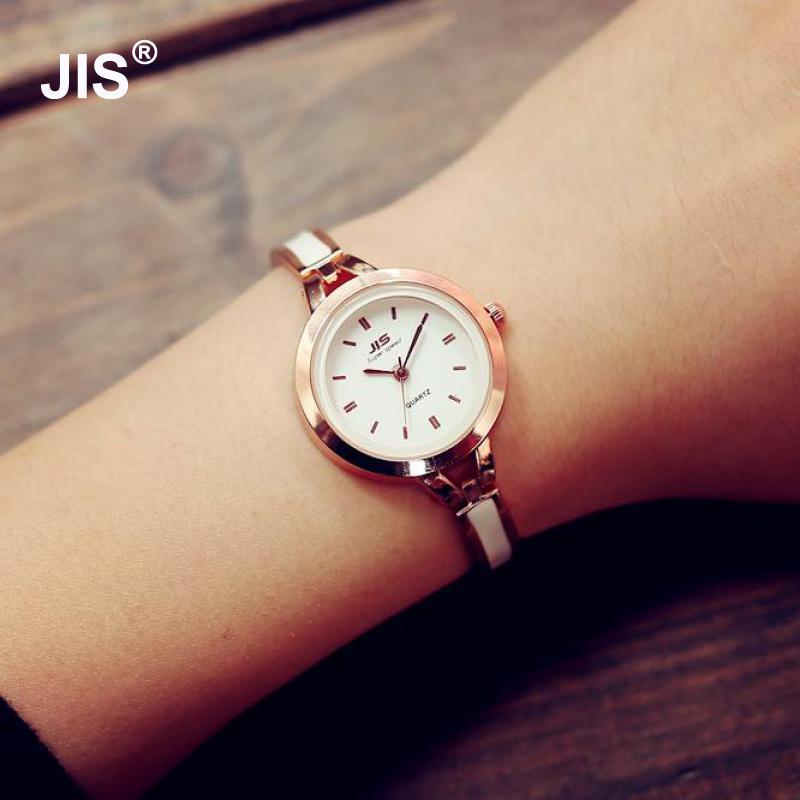 1pc Fashion JIS Quartz Rose Gold Silver Thin Strap Watch Women Watches Lady Bracelet Wristwatches with
