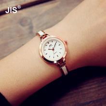 1pc Fashion JIS Quartz Rose Gold Silver Thin Strap Watch Women Watches Lady Bracelet Wristwatches with Ceramic Fine Steel Strap