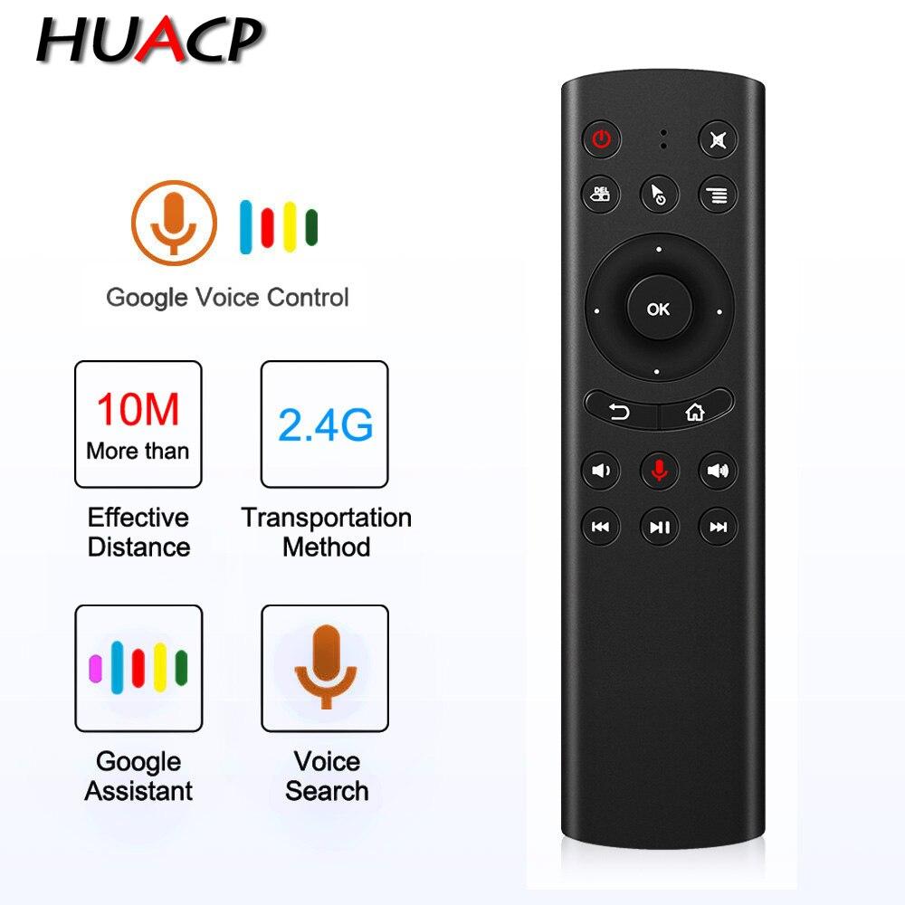 Huacp g20s 2.4g sem fio ar mouse giroscópio controle de voz sensing universal mini teclado controle remoto para xiaomi android caixa tv