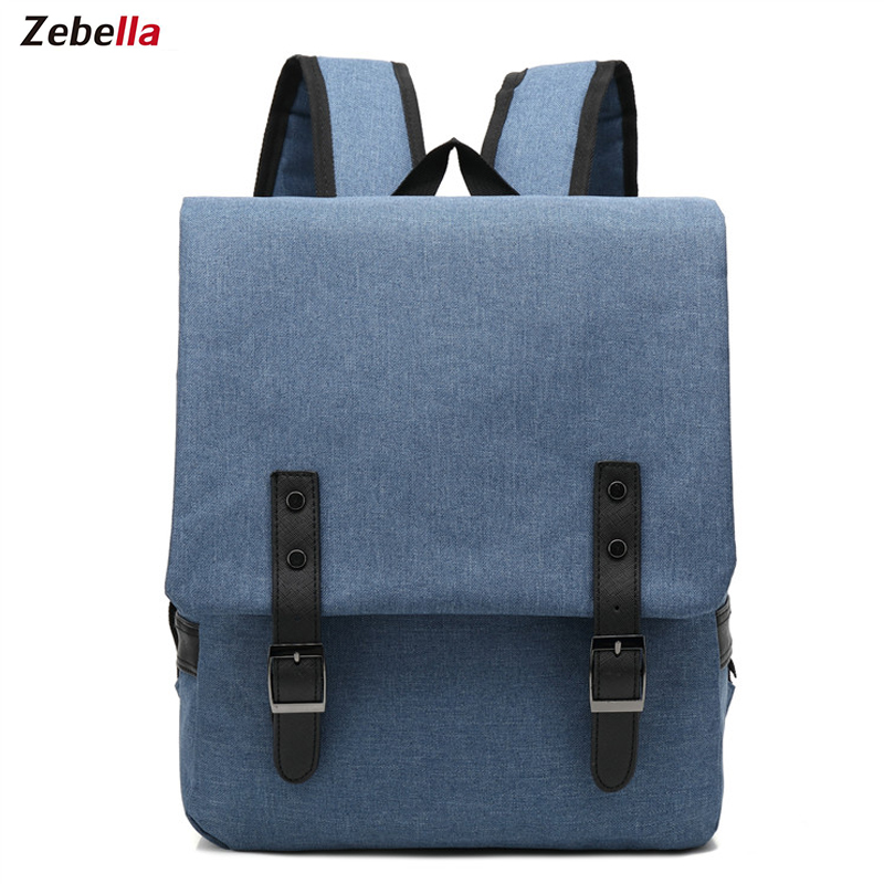 Zebella Men Women Canvas Backpacks School Bags for Teenagers Casual Travel Boys Girls Large Capacity Laptop Backpack Mochila balang brand school backpack for teenagers boys girls large capacity travel backpack for men 15 6 inch laptop waterproof bags