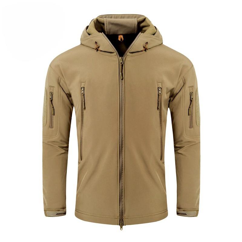 Men's Tactical Jacket Windproof Fleece Jacket for Winter Lightweight Wind Breaker Jacket Breathable Hiking Climbing Jacket(China)