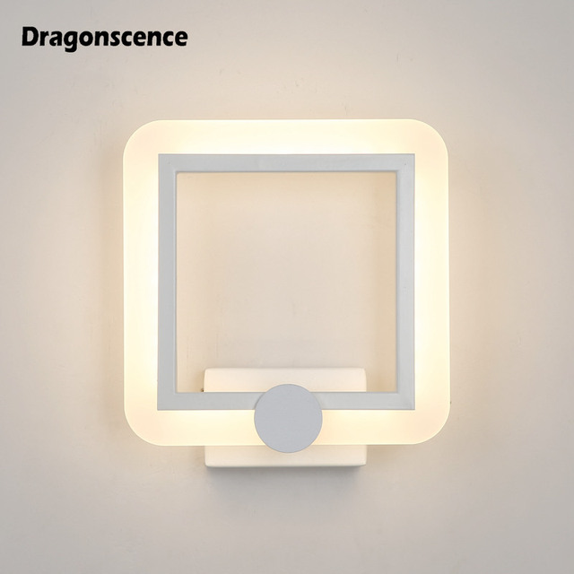 Dragonscence Plexiglass 3 minimalist design led wall light bedroom bedside deco supplementary with Lustre corridor 8W wall lamps