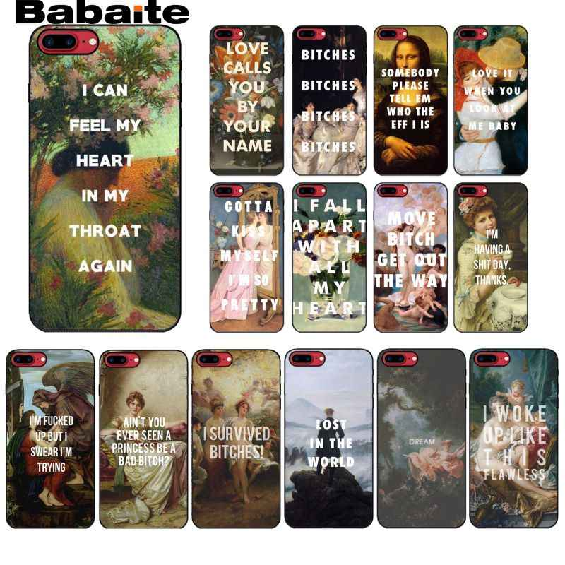 Babaite Retro Minyak Lukisan Vintage Quotes Phone Case untuk iPhone 11 Pro 11Pro MAX 8 7 6 6S Plus X XS Max 5 5S SE XR