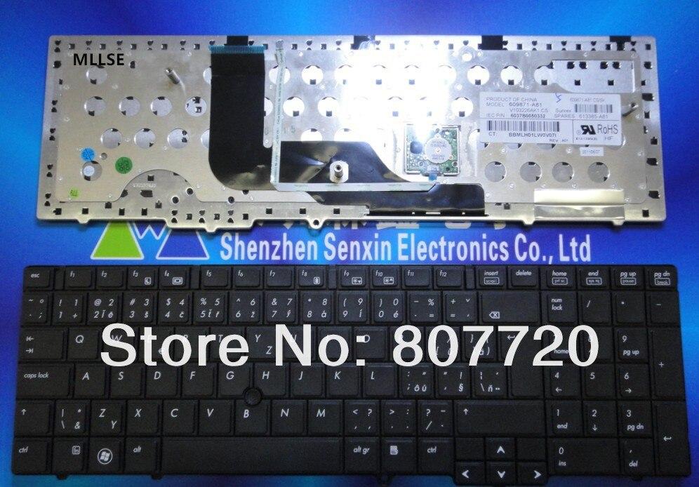 Новая Оригинальная CZ/SK, CZ, SK, Чешская клавиатура для hp 6540B 6545B 6550B, с точечной наклейкой, 609871-A81, 613385-A81