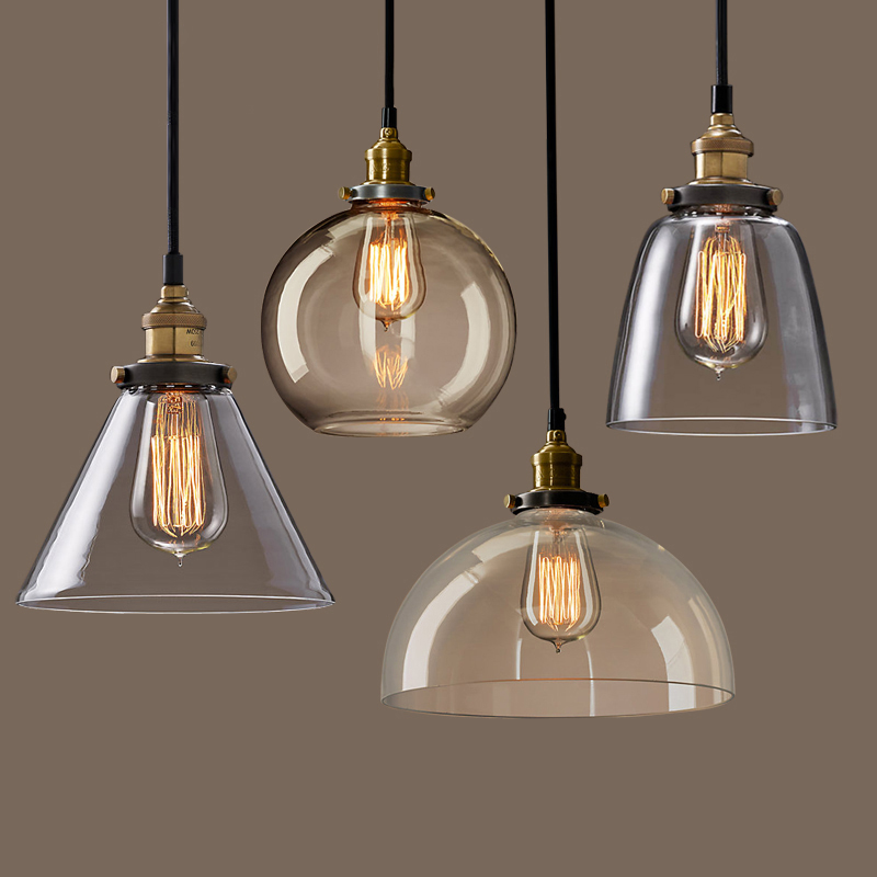 Pendant lamp with a personality of the glass pendant light for Lampen store