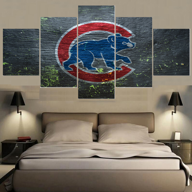 Sport Ball Team Logo Chicago Cubs Paintings Wall Art Home Decor Picture Canvas Painting Calligraphy For