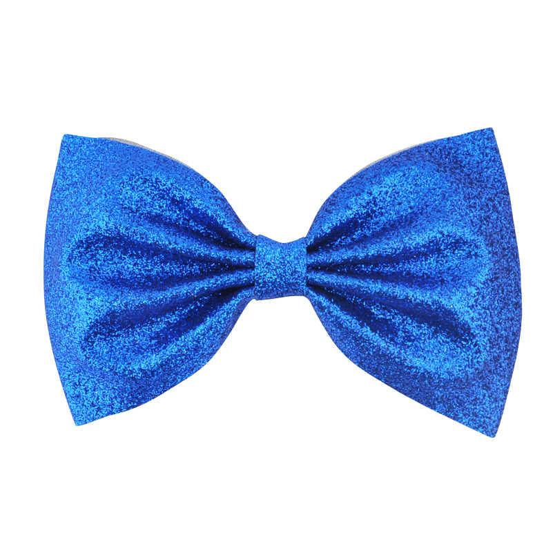 4,5 Inch Fashion Teens Mädchen Kinder Kinder Boutique Hairbow Haarnadeln Glitter Leder Bogen Haar Clips Beste Geschenk Haar Headwear