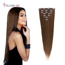 Brazilian Virgin Hair Clip In Human Hair Extension Unprocessed Brazilian Clip In Hair Full Head Human Hair Extensions