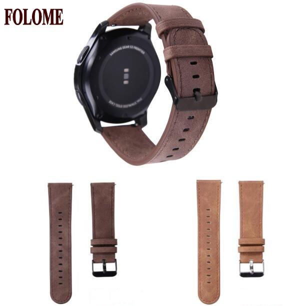 Prix pour Folome bracelet creay cheval remplacement bracelet en cuir pour samsung gear s3 frontière/classique bande de montre 22mm bracelet