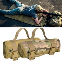 Tactical Lightweight Roll Up Shooting Mat Non padded Shot Accessories Hunting Rifle Mat for Long Range Shooting