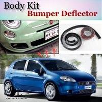 Bumper Lip Deflector Lips For Fiat Punto Grande Evo / Zastava 10 Front Spoiler Skirt For TG Fans Car Tuning / Body Kit / Strip