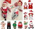 Llegan nuevos 2016 de la moda de los mamelucos 0-24 M ropa 100% de algodón de manga larga de Dibujos Animados vaca bebes infantil del bebé de la Navidad vestido de recién nacido