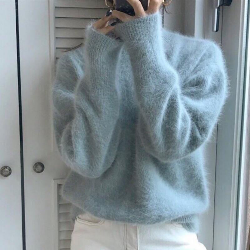 Chic Long Sleeve Knitting Sweater For 2018 Fashion O Neck Loose Casual Women Pullovers