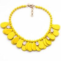 N01024 Модные Ювелирные Аксессуары Чистые Свет Золотой Цвет Оптовая Женщин Заявление Акриловые Лето Ожерелье