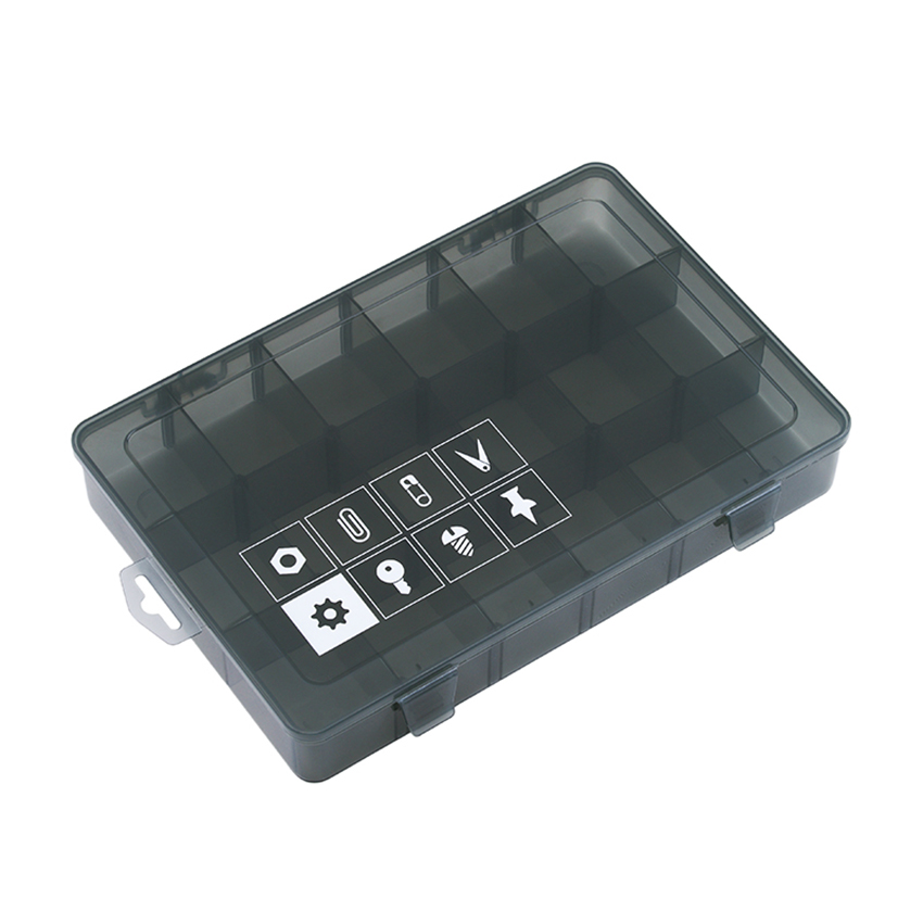 1PC New 18 Slots Cells Portable Jewelry Tool Box With Number Container Ring Electronic Parts Screw Beads Component Storage Box