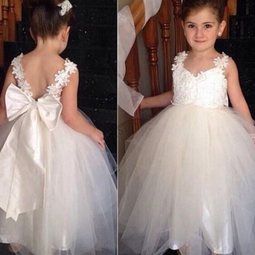 Flower Girl Pageant Party Wedding Bridesmaid Princess Kid Formal Ball Gown Dress 2017 new flower embroidery girl dresses pageant party wedding bridesmaid ball gown prom princess long dress girl clothes