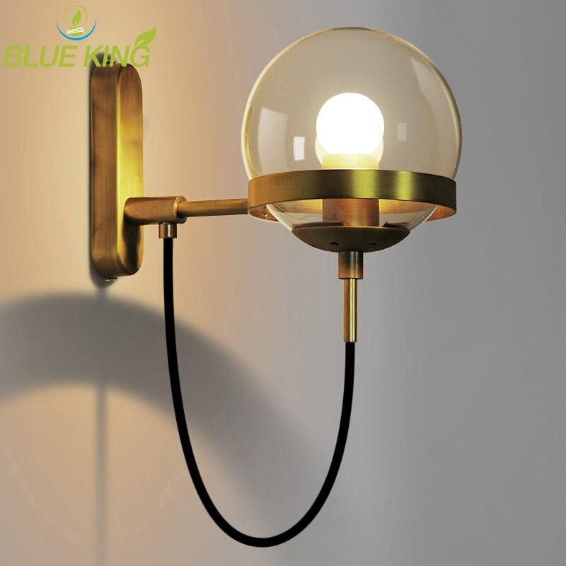 Nordic краткое светодио дный светодиодные Современные Настенные светильники стеклянный шар настенный светодио дный led освещение в помещении ...