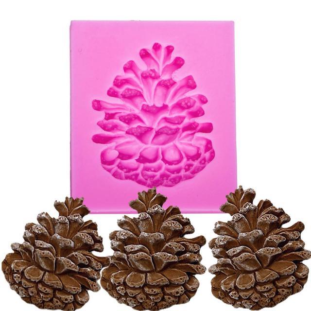 Noci di pino a forma di 3D della torta del fondente stampo in silicone per stamp