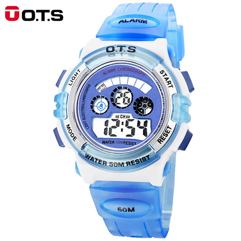 OTS Children Watches Cute Kids Watches Sports Cartoon Watch for Girls boys Rubber 50M Waterproof Digital LED Wristwatches Reloj sport student children watch kids watches boys girls clock child led digital wristwatch electronic wrist watch for boy girl gift