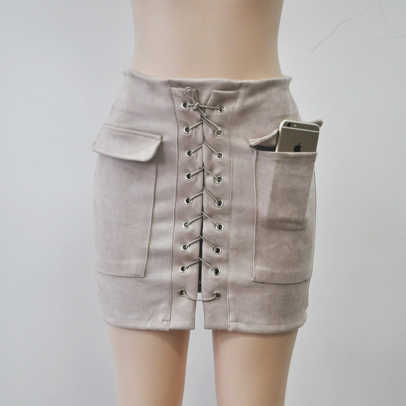 b3415d9d1d647e € 13.95  M. H. Artemis Boho Chic femmes 90's Vintage poche preppy jupe  courte taille haute casual jupes Moulante Bandage court Crayon jupe dans ...
