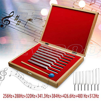 One set 8pcs Aluminum Medical Tuning Fork Healing Sound Vibration Therapy 256Hz+288Hz+320Hz+341Hz+384Hz+426Hz+480Hz+512Hz