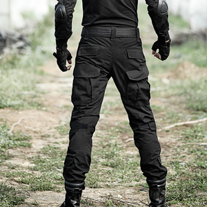 Image 4 - טקטי מכנסיים גברים צבאי הסוואה Pantalon צפרדע מטען מכנסיים ברך רפידות לעבוד מכנסיים צבא צייד SWAT Combat מכנסיים