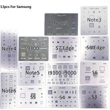 NOVFIX 13pcs / set BGA Reballing Stencil Kits Solder Template Set For Samsung S3