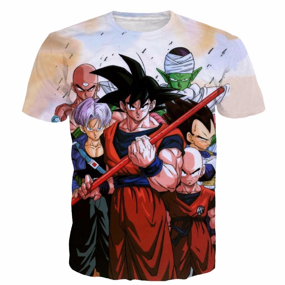 Newest Team Dragon Ball Z t shirts Classic Goku/Vegeta/Goten tees Men Women Hipster 3D t shirt Anime tshirts Harajuku tee shirt