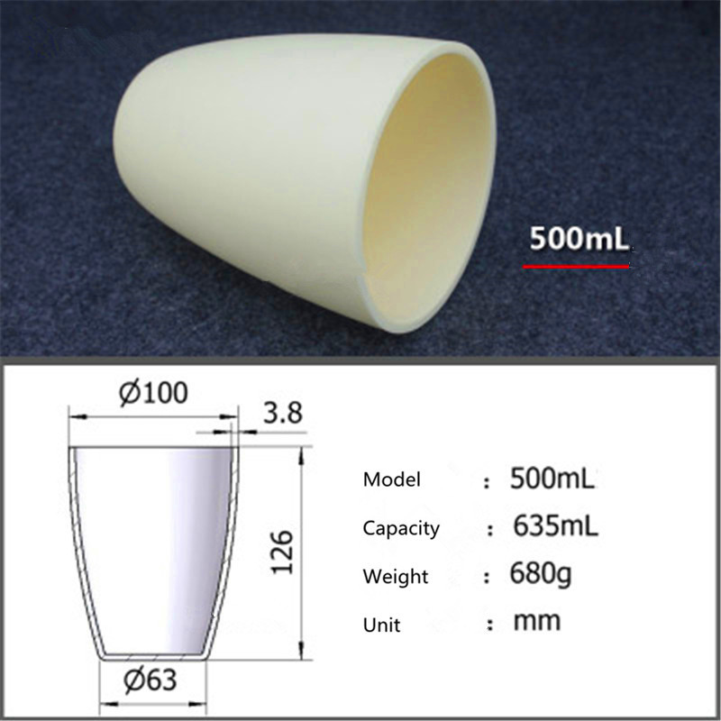 99.5% corundum crucible/Alumina ceramic crucible/500ml/Temperature resistance 1600 degree / sintered ceramic crucible цена
