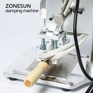Image 4 - ZONESUN ZS 100A özel Logo sıcak folyo damgalama makinesi manuel bronzlaştırıcı makinesi PVC kart deri kağıt kalem damgalama makinesi