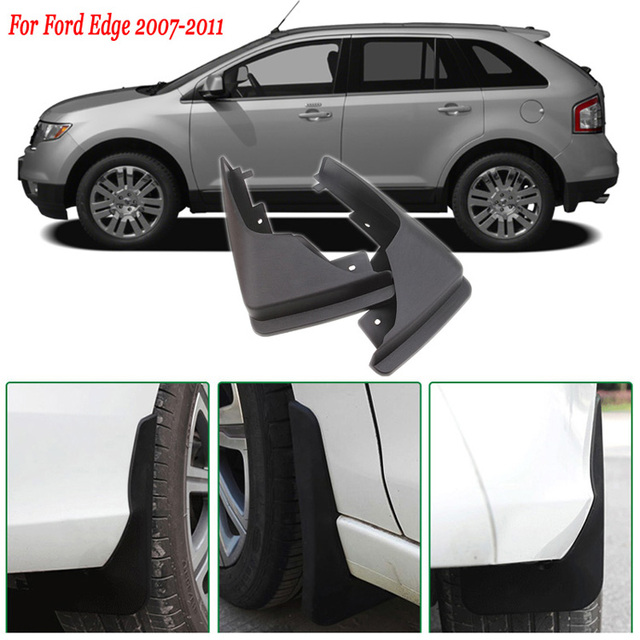 Ipoboo Pcs Premium Heavy Duty Molded Splash Front Mud Flaps Guards Fenders For Ford Edge