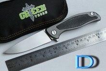 Verde espina F95 teniendo Flipper 95 cuchillo plegable de Titanio de carbono fibra o caza EDC del cuchillo de bolsillo g10 campaña al aire libre herramientas