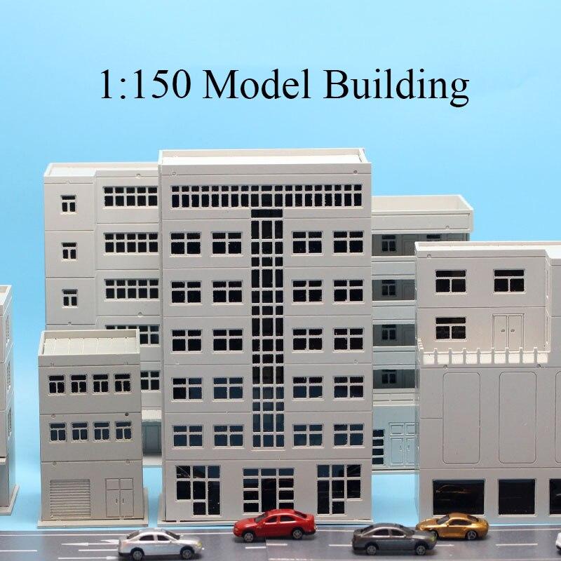 1:150/144 Miniature House Model Building Decoration Sandbox Assembled Building Blocks Hut Building Mall High-rise City Road