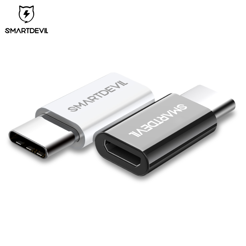 SmartDevil USB Adapter USB C to Micro USB OTG Cable Type C Converter for Macbook Samsung Galaxy s8 s9 Huawei p20 pro OTG Adapter