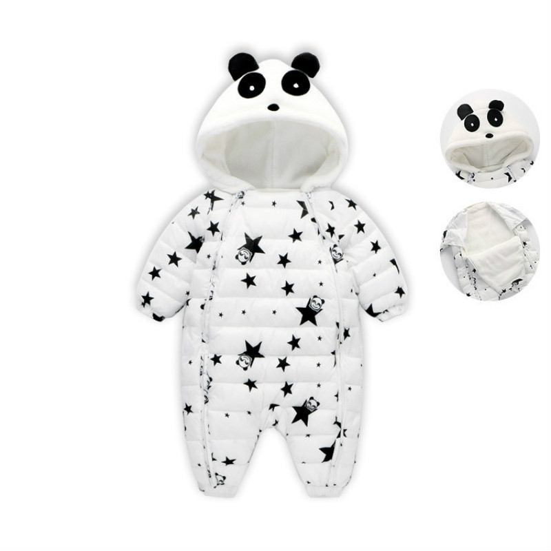 New winter Children's wear Climbing suit Infant jumpsuit Plus velvet thickening Newborn baby Children's cotton clothes детский костюм panda plus velvet suit ty1267 2015