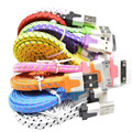 1M/2M/3M High Quality Braided Flat 30 pin USB Data Sync Charging Charger Cable Cord For iPhone 4 4S 3G