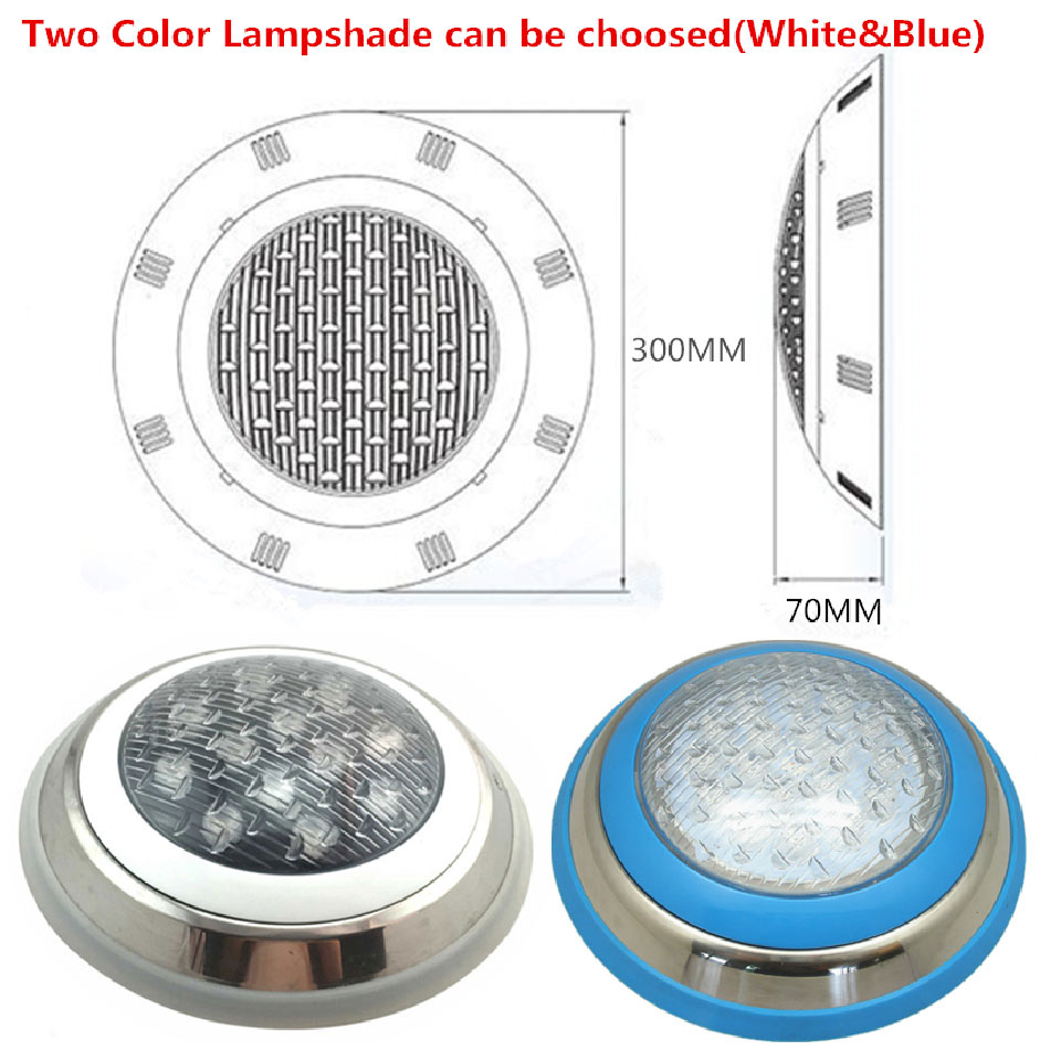 Image 4 - Underwater Lights LED Swimming Pool Light RGB Surface Mounted IP68 AC 12V Stainless Steel Fountain Lamp Spa Pond Lamps-in LED Underwater Lights from Lights & Lighting