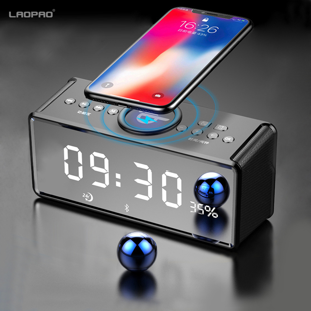 Portable Wireless Speaker Bluetooth speaker Wireless Charger for Phone iPhone FM Radio Alarm Bass Sound 3D Stereo Music XIAOKOA lnmbbs tablet 10 1 android 5 1 tablets with cases 1280 800 pixel wifi 802 11 b g wifi 3g wcdma 2100 mhz 1gb ram 16gb rom 8 core