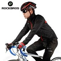 ROCKBROS Femmes Hommes Cyclisme Jersey Définit Hiver Équitation Costume Thermique Polaire Coupe-Vent Veste de Sport Pantalon Vélo Vêtements Manteau
