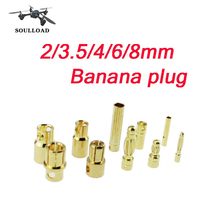 20pairs or 10 pairs 2mm 3.5mm 4mm 6mm 8mm Bullet Banana Plug Connector Male Female for RC Motor ESC Battery Part Gold PlatedARE4