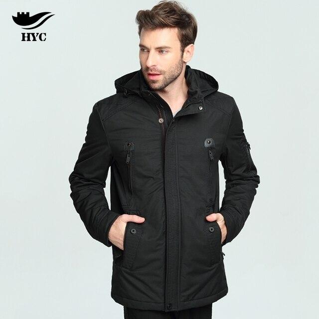 HYC Parka Men Coats Windbreaker Winter Jacket Coat Male Top ...