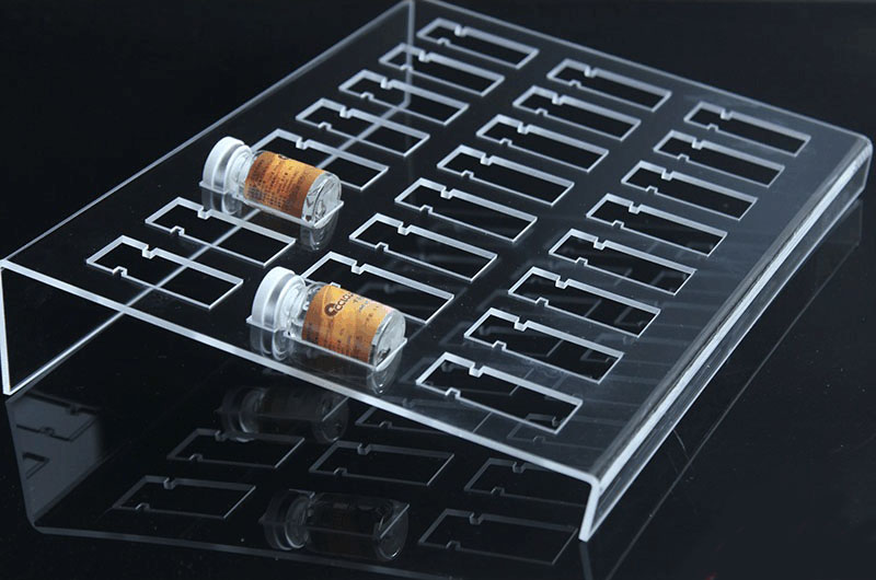 Desktop Acrylic Optical Jewelry Display Frame For Contact Lenses Small Bottle Holders